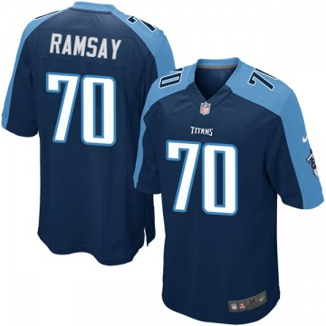 Youth Nike Tennessee Titans Mike Ramsay Navy Blue Alternate Jersey - Game