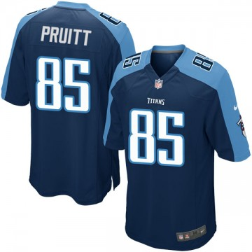 Youth Nike Tennessee Titans MyCole Pruitt Navy Blue Alternate Jersey - Game