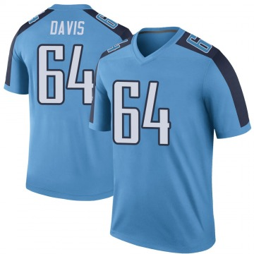 Youth Nike Tennessee Titans Nate Davis Light Blue Color Rush Jersey - Legend
