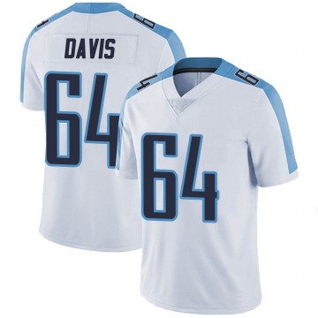 Youth Nike Tennessee Titans Nate Davis White Vapor Untouchable Jersey - Limited