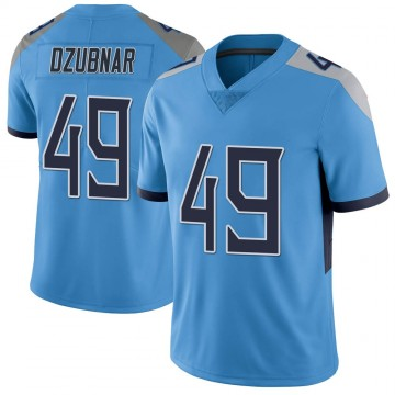 Youth Nike Tennessee Titans Nick Dzubnar Light Blue Vapor Untouchable Jersey - Limited