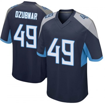 Youth Nike Tennessee Titans Nick Dzubnar Navy Jersey - Game