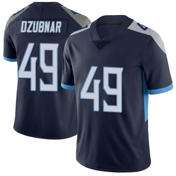 Youth Nike Tennessee Titans Nick Dzubnar Navy Vapor Untouchable Jersey - Limited