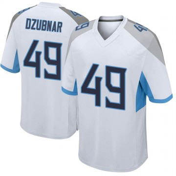 Youth Nike Tennessee Titans Nick Dzubnar White Jersey - Game