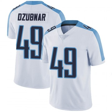 Youth Nike Tennessee Titans Nick Dzubnar White Vapor Untouchable Jersey - Limited