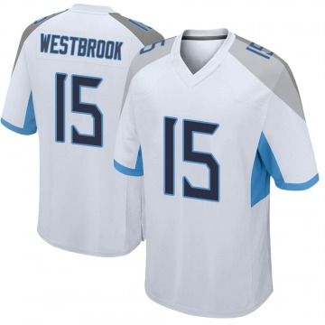 Youth Nike Tennessee Titans Nick Westbrook White Jersey - Game