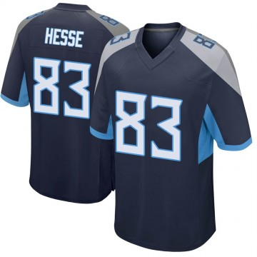 Youth Nike Tennessee Titans Parker Hesse Navy Jersey - Game