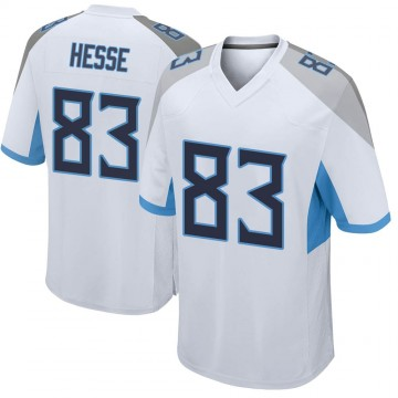 Youth Nike Tennessee Titans Parker Hesse White Jersey - Game