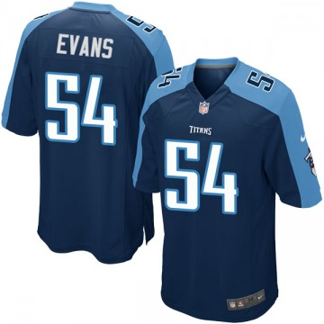 Youth Nike Tennessee Titans Rashaan Evans Navy Blue Alternate Jersey - Game