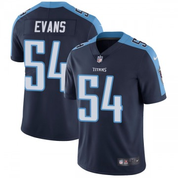 Youth Nike Tennessee Titans Rashaan Evans Navy Blue Alternate Vapor Untouchable Jersey - Limited