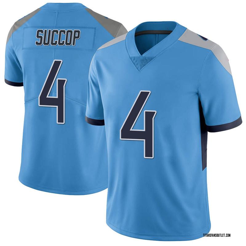 Youth Nike Tennessee Titans Ryan Succop Light Blue Vapor ...