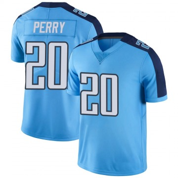 Youth Nike Tennessee Titans Senorise Perry Light Blue Color Rush Jersey - Limited