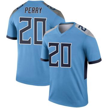 Youth Nike Tennessee Titans Senorise Perry Light Blue Jersey - Legend