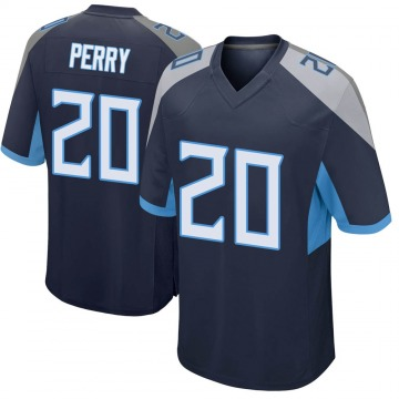 Youth Nike Tennessee Titans Senorise Perry Navy Jersey - Game