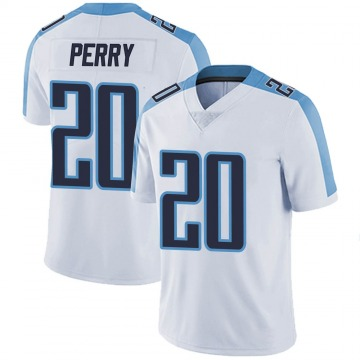 Youth Nike Tennessee Titans Senorise Perry White Vapor Untouchable Jersey - Limited