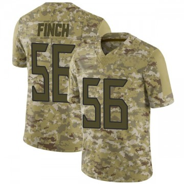 Youth Nike Tennessee Titans Sharif Finch Camo 2018 Salute to Service Jersey - Limited