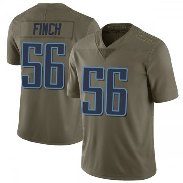 Youth Nike Tennessee Titans Sharif Finch Green 2017 Salute to Service Jersey - Limited