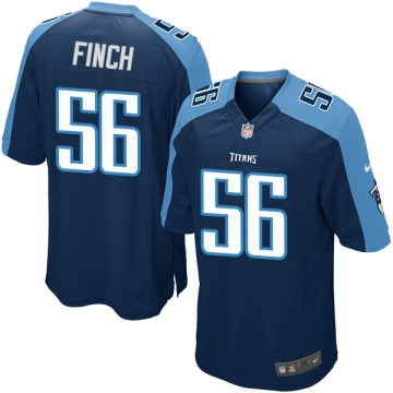 Youth Nike Tennessee Titans Sharif Finch Navy Blue Alternate Jersey - Game