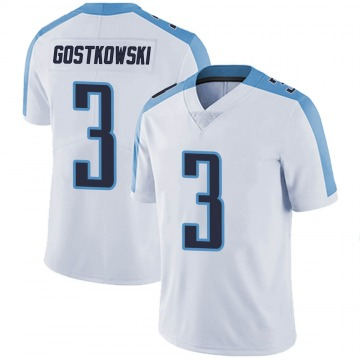 Youth Nike Tennessee Titans Stephen Gostkowski White Vapor Untouchable Jersey - Limited