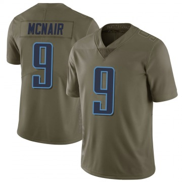 Youth Nike Tennessee Titans Steve McNair Green 2017 Salute to Service Jersey - Limited