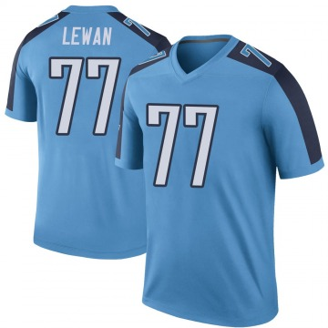 Youth Nike Tennessee Titans Taylor Lewan Light Blue Color Rush Jersey - Legend