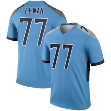 Youth Nike Tennessee Titans Taylor Lewan Light Blue Inverted Jersey - Legend