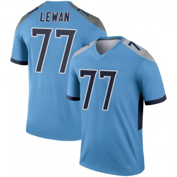 Youth Nike Tennessee Titans Taylor Lewan Light Blue Jersey - Legend