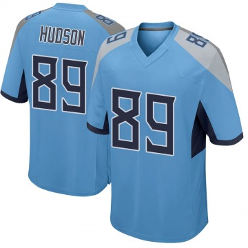 Youth Nike Tennessee Titans Tommy Hudson Light Blue Jersey - Game