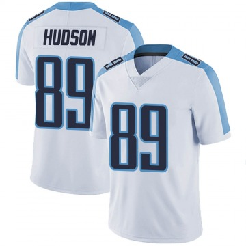 Youth Nike Tennessee Titans Tommy Hudson White Vapor Untouchable Jersey - Limited