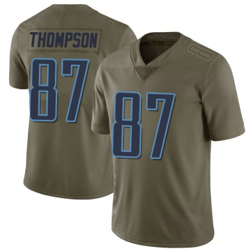 Youth Nike Tennessee Titans Trevion Thompson Green 2017 Salute to Service Jersey - Limited