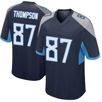 Youth Nike Tennessee Titans Trevion Thompson Navy Jersey - Game