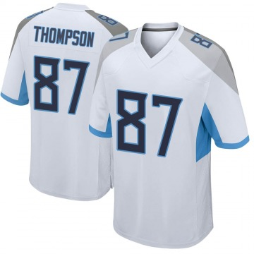 Youth Nike Tennessee Titans Trevion Thompson White Jersey - Game