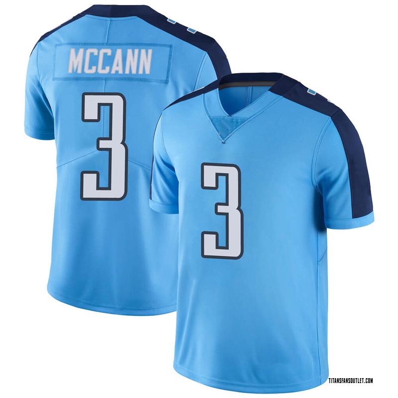 Youth Nike Tennessee Titans Tucker McCann Light Blue Color Rush ...