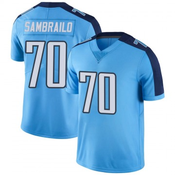 Youth Nike Tennessee Titans Ty Sambrailo Light Blue Color Rush Jersey - Limited