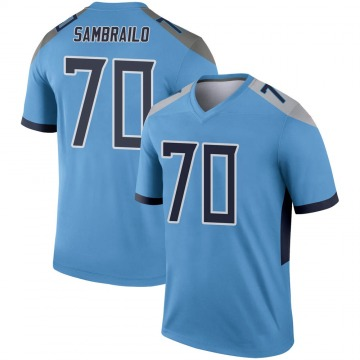 Youth Nike Tennessee Titans Ty Sambrailo Light Blue Jersey - Legend
