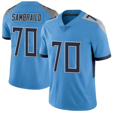Youth Nike Tennessee Titans Ty Sambrailo Light Blue Vapor Untouchable Jersey - Limited