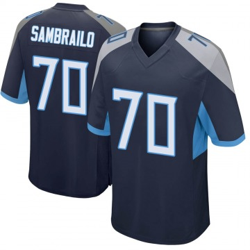 Youth Nike Tennessee Titans Ty Sambrailo Navy Jersey - Game