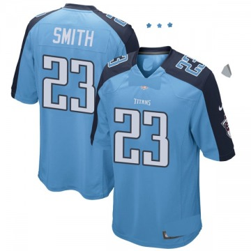 Youth Nike Tennessee Titans Tye Smith Light Blue Team Color Jersey - Game