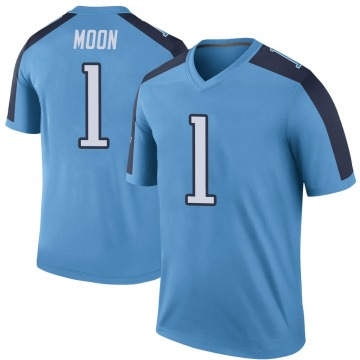 Youth Nike Tennessee Titans Warren Moon Light Blue Color Rush Jersey - Legend