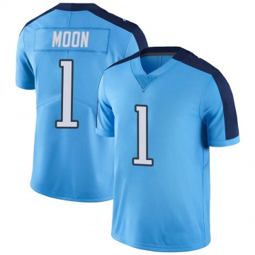 Youth Nike Tennessee Titans Warren Moon Light Blue Color Rush Jersey - Limited