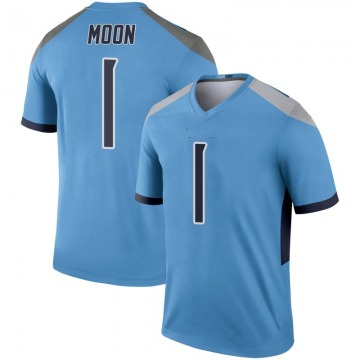 Youth Nike Tennessee Titans Warren Moon Light Blue Inverted Jersey - Legend