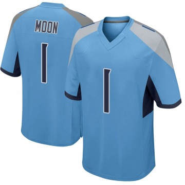 Youth Nike Tennessee Titans Warren Moon Light Blue Jersey - Game