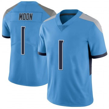 Youth Nike Tennessee Titans Warren Moon Light Blue Vapor Untouchable Jersey - Limited