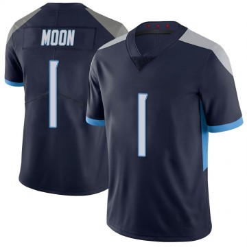 Youth Nike Tennessee Titans Warren Moon Navy 100th Vapor Untouchable Jersey - Limited