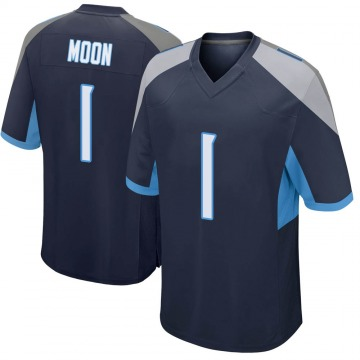 Youth Nike Tennessee Titans Warren Moon Navy Jersey - Game