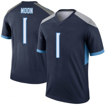 Youth Nike Tennessee Titans Warren Moon Navy Jersey - Legend