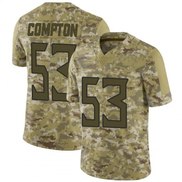 Youth Nike Tennessee Titans Will Compton Camo 2018 Salute to Service Jersey - Limited