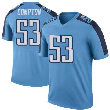 Youth Nike Tennessee Titans Will Compton Light Blue Color Rush Jersey - Legend