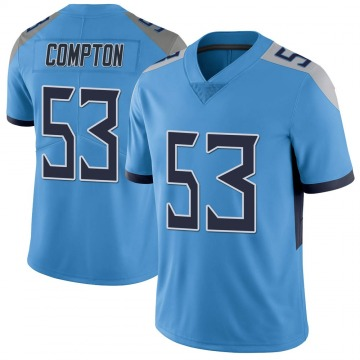 Youth Nike Tennessee Titans Will Compton Light Blue Vapor Untouchable Jersey - Limited