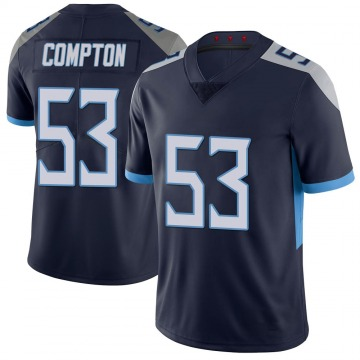 Youth Nike Tennessee Titans Will Compton Navy 100th Vapor Untouchable Jersey - Limited